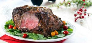 Organic grass fed beef tenderloin roast with a Herb dry rub