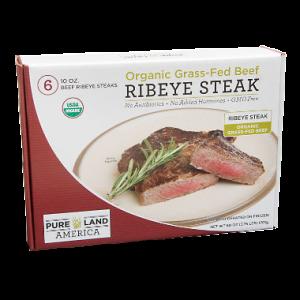 organic grass fed ribeye steak from pureland america