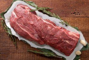Organic Grass Fed beef ribeye steak