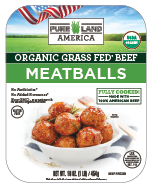 frozen organic meatballs from pureland america are made from american cattle