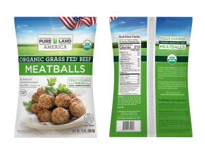 organic grass fed beef meatballs nutritional facts