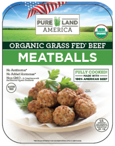 Organic grass fed beef meatballs family package