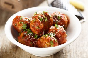 pureland american frozen organic meatballs recipe with tomato sauce and cheese