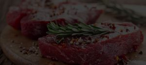 seasoned american farmed steak with herbs